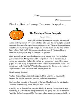 Making of Super Pumpkin Cold Read Assessment