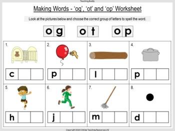 Making og ot and op Words