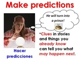 Making predictions bilingual (Spanish) reading strategies poster