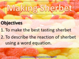 Making sherbet, kitchen chemistry - fun activity with scientific explanation