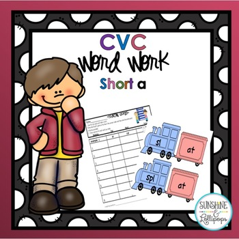 CVC Word Work Making short a CVC Words and Word Families