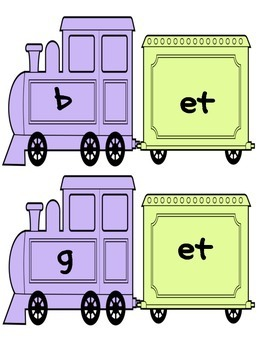 CVC Word Work: Making short e CVC Words and Word Families