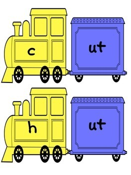 CVC Word Work: Making short u CVC Words and Word Families