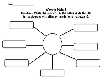 Making Six & Seven Addition Graphic Organizer