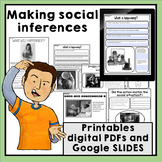 Making social inferences printable and digital worksheets and activities