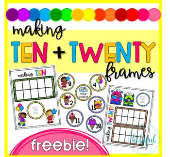 Making Ten and Twenty Frames FREEBIE