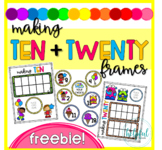 Making Ten and Twenty Frames FREEBIE