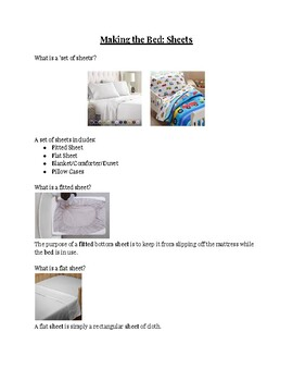 Making the Bed: Set of Sheets