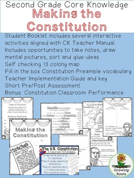 Making the Constitution Second Grade Core Knowledge Unit BUNDLE