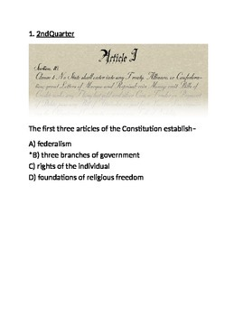 Making the Constitution Test 3