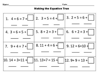 Making the Equation True