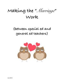 "Making the ""Marriage"" work (between Special Educators and General Educators)"