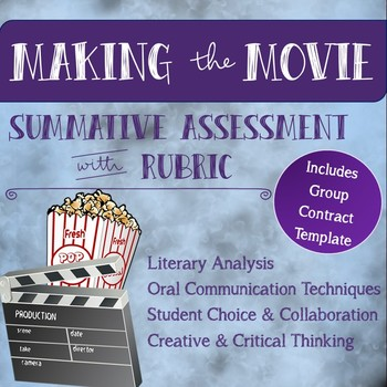 Making the Movie Creative Summative Assessment for any Fiction text