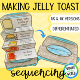 Making toast sequencing activity fold out