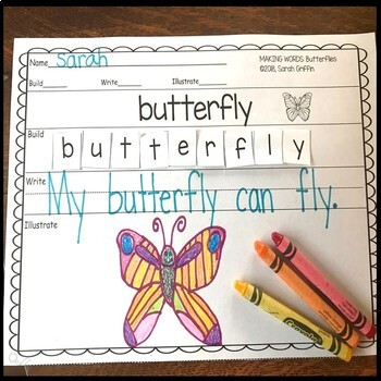 Making words ~ Butterfly Life Cycle ~ Writing Center