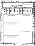 Making words Christmas Freebie!