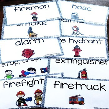 Making words ~ Fire Safety ~ writing center