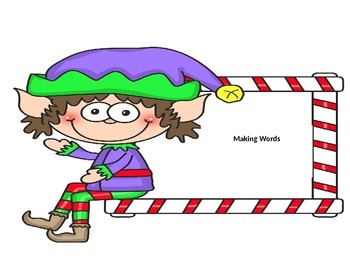 Making words: Merry Christmas