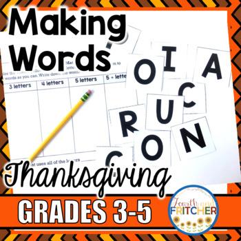 Making Words: Thanksgiving
