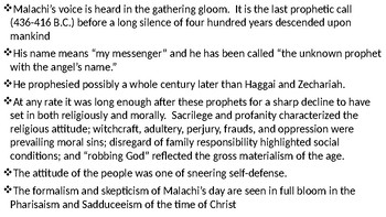 Malachi Power Point Notes