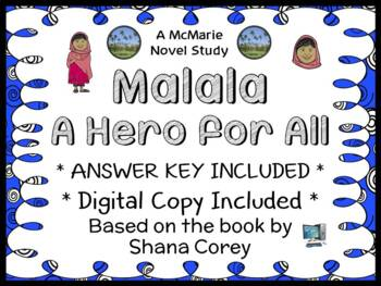 Malala: A Hero for All (Shana Corey) Book Study / Comprehension  (19 pages)