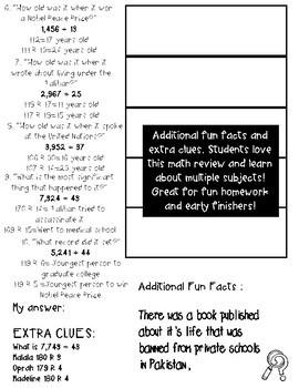 Malala 5th Grade Division with two digit divisors Math worksheets