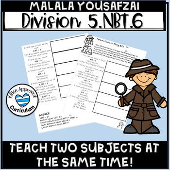 5.NBT.6 Activities 5th Grade Division Malala Yousafzai