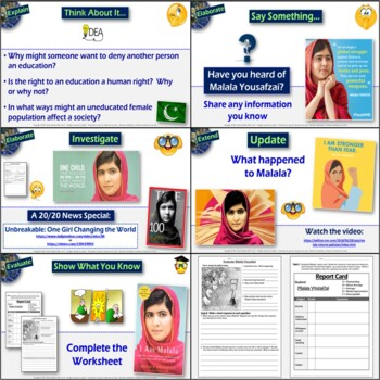 Malala: Education in Pakistan - Complete 5-E Lesson with Video and Activities