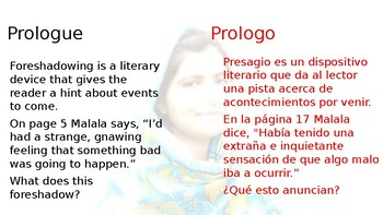Malala Reader's Response (Spanish & English)