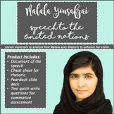 Malala Speech to the United Nations - Teaching Rhetoric