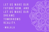 Malala Wit and Wisdom posters