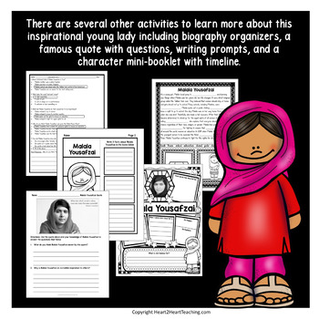 Malala Yousafzai Unit: Articles, Activities, Flip Book for Women's History Month