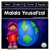 The Life Story of Malala Yousafzai Unit with Articles, Activities, & Flip Book