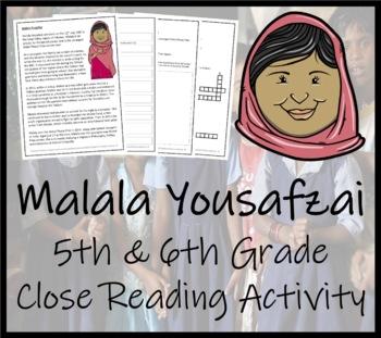 Malala Yousafzai - 5th Grade & 6th Grade Close Reading Activity