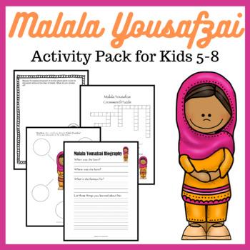 Malala Yousafzai Activity Pack