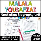Malala Yousafzai - Nonfiction Text Unit: Use with ANY Malala book