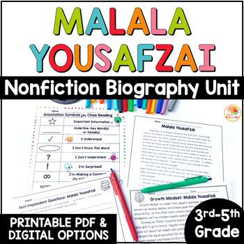 Malala Yousafzai: Nonfiction Close Read Text Unit