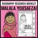 Malala Yousafzai Biography Research Booklet