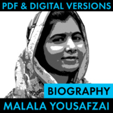 Malala Yousafzai Biography Research Organizer, Easy Malala