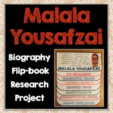 Malala Yousafzai Biography Research Project, Flip Book, Famous Women