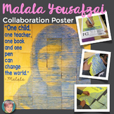 Malala Yousafzai Collaboration Poster - Great Women's History Month Activity