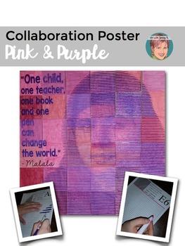 Malala Yousafzai Collaboration Poster - Great Women's History Month Activity