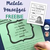 Malala Yousafzai FREEBIE