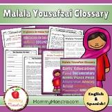 Malala Yousafzai Glossary & Poster Set