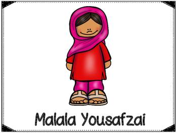 Malala Yousafzai Graphic Organizers