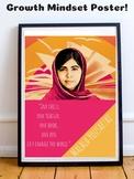 Malala Yousafzai Growth Mindset Poster Posters Motivationa