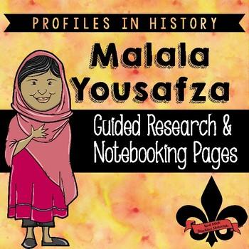 Malala Yousafzai Guided Research Activity