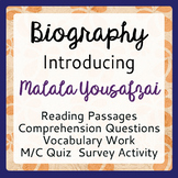 Malala Yousafzai Informational Texts, Activities Grades 7-9