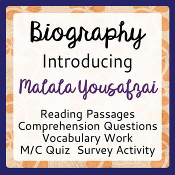 Malala Yousafzai Informational Texts, Activities Grades 7-9