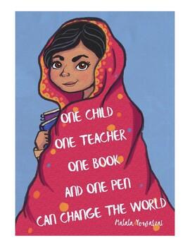 Malala Yousafzai Inspiration Poster